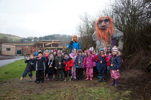 The Fife Ecology Centre, Kinghorn. 17 Feb 2016.   Claire Reid, Education Manager welcomes young visitors to The Fife Ecology Centre, Kinghorn.  Picture Credit Tina Norris /HIE 2016,Fife Ecology Centre,HIE,ecology,children,child,kids