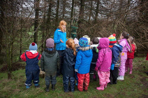 The Fife Ecology Centre, Kinghorn. 17 Feb 2016.   Claire Reid, Education Manager welcomes young visitors to The Fife Ecology Centre  Picture Credit Tina Norris /HIE 2016,Fife Ecology Centre,HIE,ecology,children,child,kids
