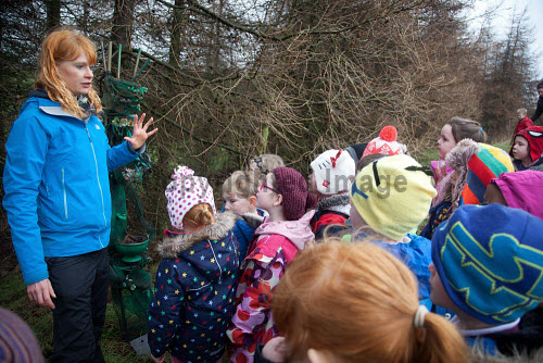 The Fife Ecology Centre, Kinghorn. 17 Feb 2016.   Claire Reid, Education Manager welcomes young visitors to The Fife Ecology Centre, Kinghorn.  Picture Credit Tina Norris /HIE 2016,Fife Ecology Centre,HIE,ecology,children,child,kids,fife