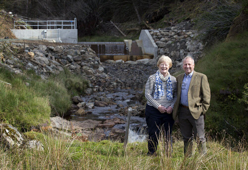 Lochgoilhead - 30.8.16 - Lochgoil Hydro  The Lochgoil Hydro scheme  Pictured - left to right - Elizabeth Bain Lochgoil Energy Ltd and Pete Clarke Lochgoil Energy Ltd.   Picture Credit Stuart Nimmo /HIE 2016,hydro,power,green,water,renewable,donich water