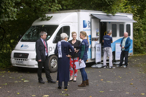 High Speed Fibre Broadband Roadshow in Taynuilt  People visiting the bus  Picture Credit Tony Hardley/ HIE 2016,high,speed,fibre,broadband,bus,roadshow,digital