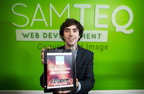 Sam Coley founder of Samteq pictured in his Dunoon office   Picture Credit Staurt Nimmo /HIE 2016,Samteq,digital,apps,app,sam,coley