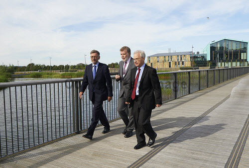 Lord Dunlop visit to Inverness Campus.   Lord Dunlop, Crichton Lang UHI and Jeff Howarth UHI.  Picture Credit Ewen Weatherspoon /HIE 2016,Lord Dunlop,campus,inverness