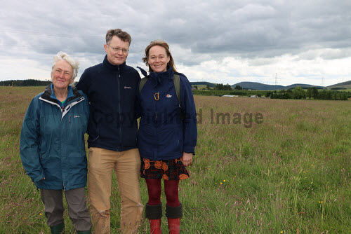 Huntly and District Development Trust on site at Greenmyres Farm  Mary Scott, Donald Boyd and Jill Andrews 2016