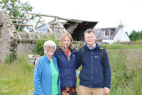 Huntly and District Development Trust on site at Greenmyres Farm