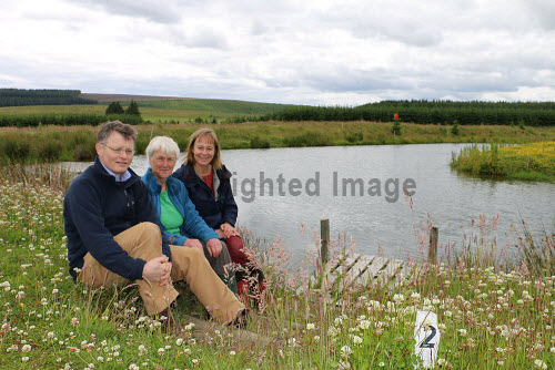 Huntly and District Development Trust on site at Greenmyres Farm  Donald Boyd, Mary Scott,  Jill Andrews 2016