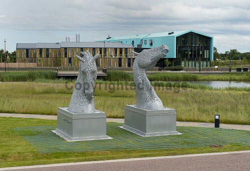 The Kelpies arrive at Inverness Campus 