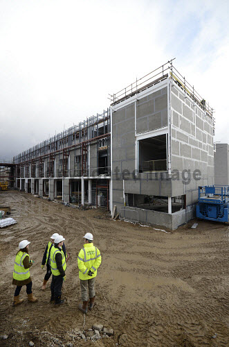 The construction of the new Alexander Graham Bell Centre - the Moray Life Science Centre, at Moray College UHI, Elgin, Moray..It is a joint initiative between Moray College and NHS Grampian, both of whom will occupy the building. The project is being delivered and funded by a partnership of Moray College UHI, Highlands and Islands Enterprise (HIE), NHS Grampian and the European Regional Development Fund..13.03.13..Picture Credit : Chris Robson / HIE 2013,highlands,islands,enterprise,winter,building,architecture,modern,development,education,study,site,campus,university
