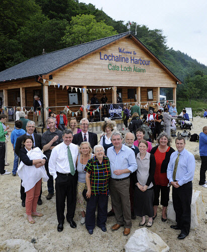 The opening of the Lochaline Marina, Lochaline, Highlands of Scotland.