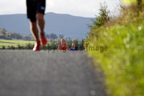 The 2nd 17:46k Culloden Run  starting at the battlefield. Runners on the course  For use by HIE across all media IMPERPETUITY. No third party use.  Picture: Paul Campbell runner,running,runners,sport,2013,battlefield