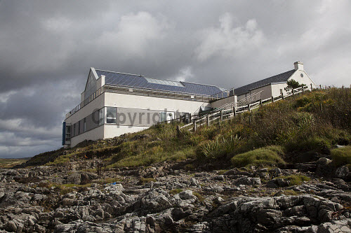 Ionad Chaluim Chille Ile - The Islay Columba Centre, a gaelic college offering a progressive year round range of classes, courses and activities and also offering many community facilities including a gaelic library, cafe, conference room and an exhibition space, Bowmore, Islay, Inner Hebrides...Pictured here the building from the shores of Loch Indaal...Picture Credit : Mark Unsworth / HIE 2012,highlands,islands,enterprise,sunny,íle,ICCI,venue,culture,heritage,language,education,study,island,isle,argyll