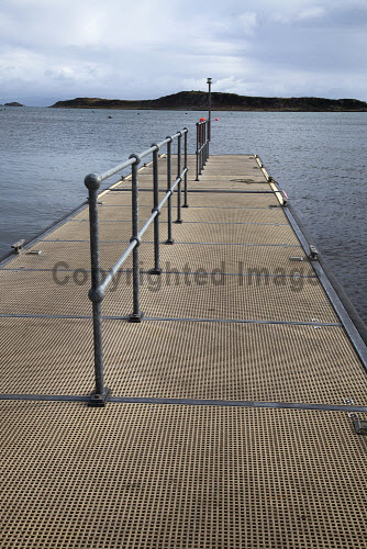 Isle of Jura visitor moorings and landing pontoon at Craighouse..Picture Credit Mark Unsworth / HIE island,islands,isles,water,sea,2012