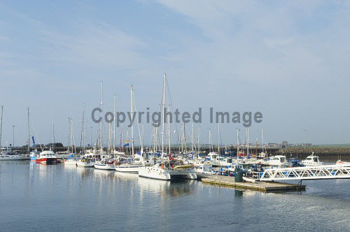 Yachts berthed in the marina at Kirkwall, Mainland, Orkney..Picture Credit : Iain Sarjeant. 2012,summer,sunny,water,reflection,boats,boat,yacht,island,isle,isles,activity,sailing,pontoon,masts,scenic