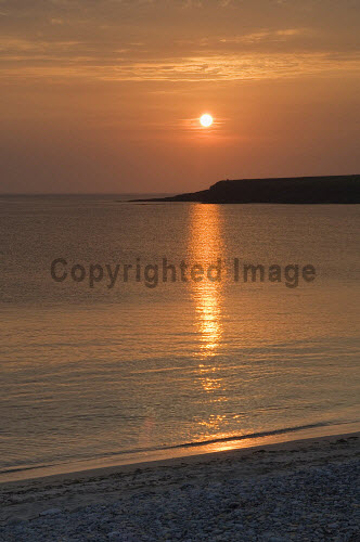 Sunset at the Bay of Skaill, Mainland, Orkney..Picture Credit : Iain Sarjeant 2012,island,islands,isle,isles,summer,coast,coastal,coastline,atmospheric,dramatic,silhouette,orb,reflection,beach,water,scenic
