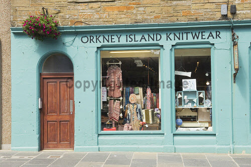 Orkney Island Knitwear at Judith Glue on Broad Street, Kirkwall, Mainland, Orkney..Picture Credit : Iain Sarjeant 2012,craft,crafts,retail,shop,shopping,shops,specialised,summer,sunny,island,islands,isle,isles,scenic