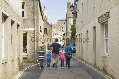 Victoria Street, Kirkwall, Mainland, Orkney..Picture Credit : Iain Sarjeant 2012,child,children,kid,kids,family,families,people,person,visitors,visitor,retail,shop,shopping,shops,shopper,shoppers,summer,sunny,island,islands,isle,isles,pedestrianised,scenic