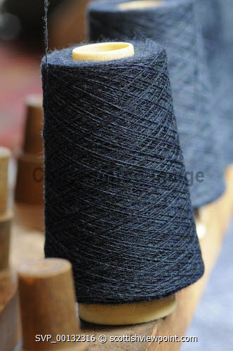 Breanish Tweed - a family based business at Port of Ness on the Isle of Lewis, Outer Hebrides..Breanish Tweed hand weaves a lightweight tweed using 100% natural yarn, all dyed and spun in Scotland..Cloth is supplied to the best bespoke tailors and fashion houses...Pictured here a detail of wool ready for weaving...31.07.10...Picture Credit: Leila Angus / HIE western isles,island,development,highlands,islands,enterprise,2010,material,manufacture,industry,handmade,interior