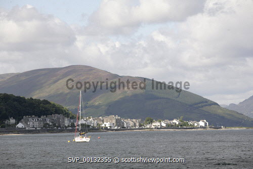 The Island of Bute, Argyll and Bute..A yacht moored in the bay at Rothesay..Picture credit Iain Mclean / HIE 2010,scenic,scenics,isle,coast,sunny,summer,boat