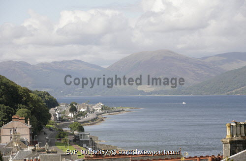 Rothesay, the Island of Bute, Argyll and Bute..Picture credit Iain Mclean / HIE 2010,scenic,scenics,isle,coast,sunny,summer,boat,hills,mountains