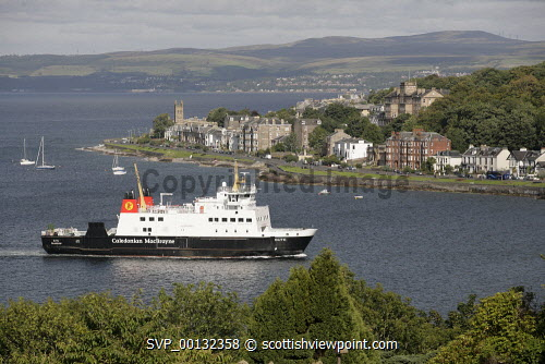 The Island of Bute, Argyll and Bute..CalMac Ferry, Rothesay..Picture credit Iain Mclean / HIE 2010,scenic,scenics,isle,coast,caledonian macbrayne,cal mac,sunny,summer,transport,boat