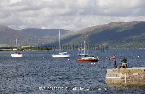 The Island of Bute, Argyll and Bute..Picture credit Iain Mclean / HIE 2010,scenic,scenics,isle,coast,sunny,summer,water,fishing,boats,yachts,people