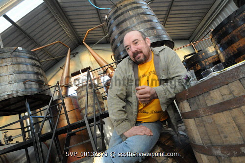 Marko Tayburn at Abhainn Dearg Distillery or Red River Distillery, Isle of Lewis...Picture Credit : Leila Angus/HIE whisky,production,industry,spirit of lewis,2010,island,isle Leila Angus / HIE