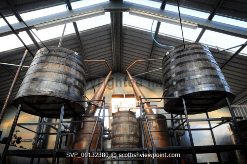 Abhainn Dearg Distillery or Red River Distillery, Isle of Lewis...Picture Credit : Leila Angus/HIE whisky,production,industry,spirit of lewis,still,interior,2010,island,isle Leila Angus / HIE