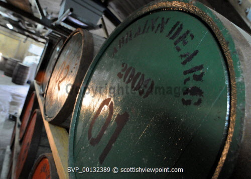 Abhainn Dearg Distillery or Red River Distillery, Isle of Lewis...Picture Credit : Leila Angus/HIE whisky,production,industry,spirit of lewis,interior,cask,barrel,2010,island,isle Leila Angus / HIE
