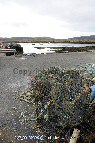Highlands and Islands Enterprise focus on Uists and Barra Development with an initiative to provide a dedicated strategy to strengthen and diversify the communities' future development..The announcement was made as a high level group from the development agency met with South Uist community and business leaders...Pictured here the harbour area of Lochboisdale subject of the Storas Uibhist regeneration project..25.05.10..Picture Credit: Leila Angus / HIE western isles,island,development,facilities,highlands,islands,enterprise,2010,community