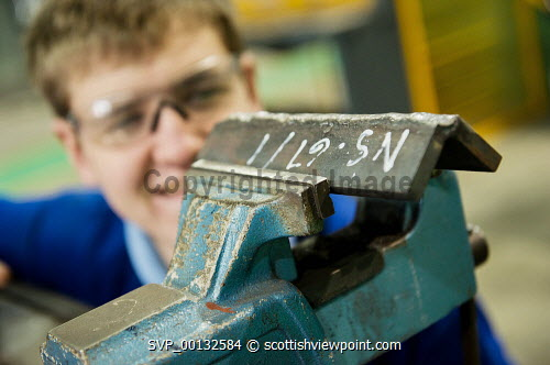 An engineering student at the North Highland College, Thurso, Caithness, Highland...Picture Credit: Angus Mackay / HIE 2011,interior,highlands,islands,enterprise,education,further,tertiary,national,certificate,NC,SVQ,NHC,technology,develop,developing,skill,skills,employment