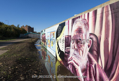 View Of Murals Painted On Wall At Marine Parade Graffiti Wall In