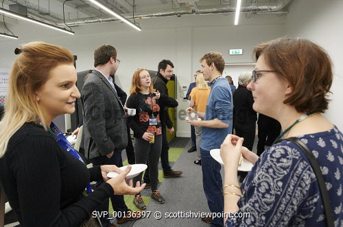Nexus Launch, Solasta House. Inverness Campus  Picture Credit Ewen Weatherspoon /HIE  7/06/2019 2019,NEXUS,LAUNCH,people,chatting,chat,interact,interaction,mingle,mingling,networking,business,breakfast,opening