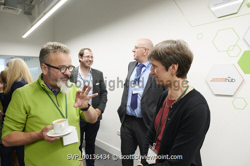 Nexus Launch, Solasta House. Inverness Campus Carroll Buxton HIE  Picture Credit Ewen Weatherspoon /HIE  7/06/2019 2019,NEXUS,LAUNCH,people,chatting,chat,interact,interaction,mingle,mingling,networking,business,breakfast,opening,audience