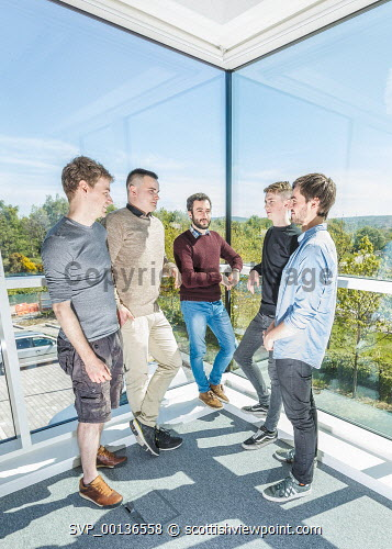 Young people within Nexus, based at Solasta House, Inverness Campus.  