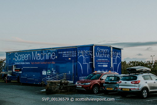 Screen Machine , Liniclate, Benbecula, Outer HebridesPicture Credit : Jennifer Campbell/HIE 2019,Screen Machine,cinema,communites,creative industries,film,lorry,movies,movie,exterior,island,islands,isle,isles Clickybox Photography