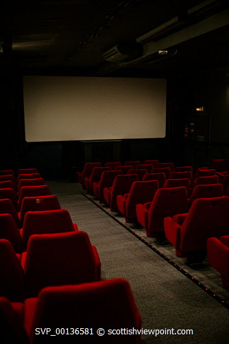 Screen Machine , Liniclate, Benbecula, Outer Hebrides  Interior  Picture Credit : Jennifer Campbell/HIE 2019,Screen Machine,cinema,communites,creative industries,film,lorry,movies,movie,screen,seats,empty,island,islands,isle,isles Clickybox Photography