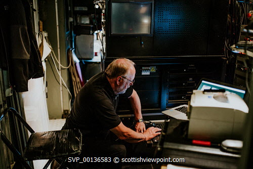 Screen Machine , Liniclate, Benbecula, Outer Hebrides  Pictured Iain MacColl  Picture Credit : Jennifer Campbell/HIE 2019,Screen Machine,cinema,communites,creative industries,film,lorry,movies,movie,island,islands,isle,isles Clickybox Photography