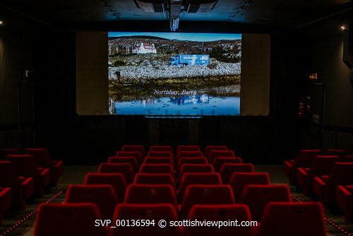 Screen Machine , Liniclate, Benbecula, Outer Hebrides    Picture Credit : Jennifer Campbell/HIE 2019,Screen Machine,cinema,communites,creative industries,film,lorry,movies,movie,screen,seats,empty,island,islands,isle,isles Clickybox Photography