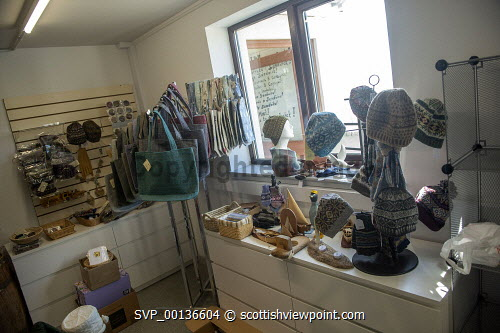 Hoswick Visitor Centre, Sandwick Shetland Isles   Items for sale in the shop  Picture Credit : Dave Donaldson /HIE 2019,Shetland,Hoswick Visitor Centre,visitor,visitors,interior,inside,indoors,island,islands,isle,isles,shop,shopping,crafts,craft Dave Donaldson