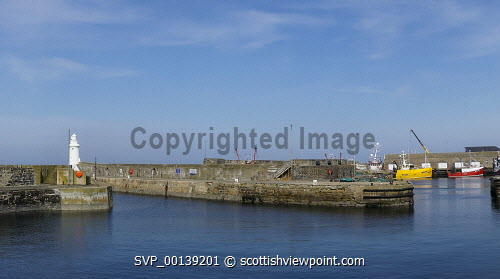 Macduff harbour, fishing boats, Aberdeenshire, Moray Firth, Scotland UK Macduff,harbour,fishing,boats,Moray,Firth,Coast,landscape,Scottish,UK,United Kingdom,coastal,coastline,water,sea,village,villages