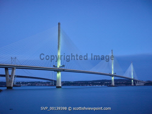 Queensferry Crossing dusk,evening,forth,firth of forth,long exposure,low tide,maritime,marine,medium format,scotland,scottish,summer,tidal,queensferry crossing,queensferry,crossing,bridge,infrastructure,modern bridge,evening light,north queensferry,span,spanning,motorway,GB,cable-stayed,longspan,structure,roadway,engineering