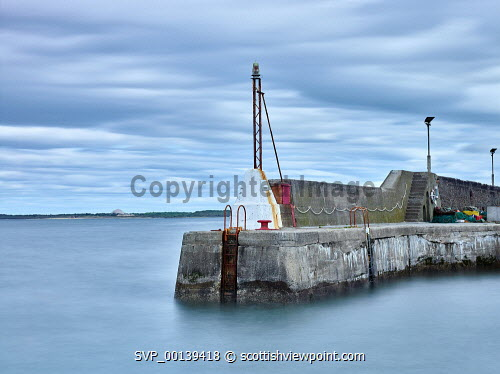 The pier at Port Seton, East Lothian clouds,cloudy,harbor,harbour,firth of forth,forth,long exposure,marine,maritime,medium format,overcast,quay,quayside,scotland,scottish,tide,wall,breakwater,port seton,daytime,summer,tidal,high tide