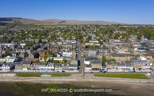 Aerial view of Helensburgh, Argyll and Bute, Scotland, UK Helensburgh,Scotland,Scottish town,aerial view,drone image,daytime,uk,United kingdom,firth of Clyde,towns,britian,british,seafront,argyll and bute,argyll & Bute,Helensburgh Scotland,Scotland helensburgh,waterfront,river clyde,promenade