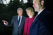 The Deputy Minister for the Environment and Rural Development, Rhona Brankin MSP, pictured with Andrew Fairbairn (Chief Executive of SFIA, left) and John Goodlad (Board Member of SFIA) after she addre... Colin McPherson