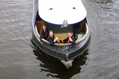 Foreign Secretary Robin Cook (centre) takes campaigning in Livingston to the waterways of the Union Canal in West Lothian as he seeks to be re-elected as the Labour MP at Thursday's general election.... Colin McPherson