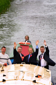Foreign Secretary Robin Cook (centre) takes campaigning in his Livingston to the waterways of the Union Canal in West Lothian as he seeks to be re-elected as the Labour MP at Thursday's general electi... Colin McPherson