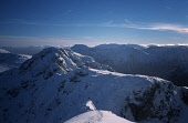 Winter view from Meall Dearg(a Munro summit of the Aonach Eagach) towards Am Bodach and Buchaille Etive Mor, Glen Coe, Central Highlands. Pic.: Ruaridh Pringle/Scottish Viewpoint Tel.: +44 (0)131 622...