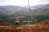 LOOKING DOWN THE WIRES OF THE GONDOLA CABLE CAR SYSTEM AT THE NEVIS SKI AREA DURING THE SUMMER MONTHS, HIGHLAND. Pic: Chris Robson/Scottish Viewpoint This picture may not be used without written permi...
