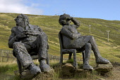 Famous sculptures at Glenshee Ski Centre, Cairnwell Pass, at Chairlift and Ski Tows and Visitor Centre, Grampian Mountains, Cairngorm National Park, Scottish Highlands, 2006 D BARNES/SCOTTISH VIEWPOIN... D BARNES/SCOTTISHVIEWPOINT Sculptures,Statues,Sitting,Figures,Glenshee,Ski Centre,Cairnwell Pass,The Cairnwell,Munroes,Chairlift,Ski Tows,Visitor Centre,Cairngorm National Park,art,Countyside Grampian Mountains,Scottish Mountai