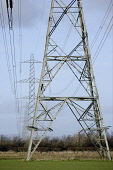 Electric pylons criss crossing the British countryside supplying power to towns and cities across the country UK PIC: ALLAN DEVLIN/SCOTTISH VIEWPOINT Tel: +44 (0) 131 622 7174   Fax: +44 (0) 131 622 7... ALLAN DEVLIN/SCOTTISH VIEWPOINT electric,electricity,electrically,electrical,electrify,electrified,electrocute,pylon,pylons,wire,wires,hazard,magnetic,field,fields,power,line,lines,powerline,powerlines,overhead,high,tension,cables,v